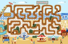 Maze, Illustrators, Highlights, Coding, Kids Rugs, Ipad, Printables, Artists, Templates
