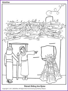 Joshua Crossing The Jordan Coloring Page Coloring Pages