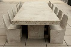 The Zachary A. Design Slab Rectangular Dining Table brings modern, industrial design to an indoor or outdoor dining area. The slab construction has