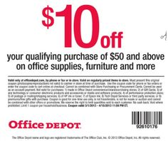 Office Depot Coupons 10 Off