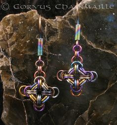 From Corvus Chainmaille - The different colors of the jumprings really makes this design stand out -