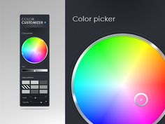 Customization Colorpicker designed by Emmanuel Mourgue - unam. Connect with them on Dribbble; Color Picker, Death, Colors, Awesome, Design, Colour, Be Awesome, Color