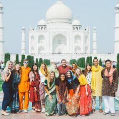Do you remember where you were when you saw your first 'modern wonder of the world'? For many voyagers, it was stepping foot on the grounds of the Taj Mahal--a monumental symbol of India's culture and history. Words will never be able to describe this experience, these people, or this place. 💙 . . . . #sasfa18 #semesteratsea #india #tajmahal Sweet Life On Deck, Semester At Sea, India Culture, Do You Remember, See You, Study Abroad, Wonders Of The World, Taj Mahal, Places To Go