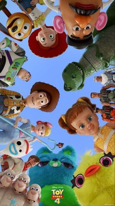 Disney Phone Wallpaper, Cartoon Wallpaper Iphone, Cute Cartoon Wallpapers, Aesthetic Iphone Wallpaper, Toy Story Movie, Toy Story Party, Toy Story Birthday, Disney Kunst, Art Disney
