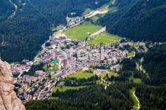 view of San Martino di #Castrozza in Italy Royalty Free Stock Photo #microstockita #fotografia