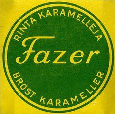 Fazer Rintakaramelleja Nostalgia, Posters, Candy, Logo, Retro, Vintage, Historia, Logos, Poster