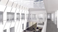 New renderings of the ZSW CENTER FOR SOLAR ENERGY AND HYDROGEN RESEARCH in Stuttgart.