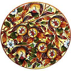 Italian Ceramic Pomegranate Plate Zoom Image