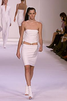 Loewe   Spring 2000 Ready-to-Wear   03 White cut out strapless mini dress