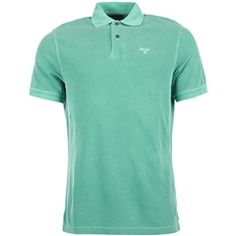 New for 2016 Barbour Washed Sports Polo Shirt - Turf Green Sports Polo Shirts, Barbour Mens, Heritage Brands, Fashion Forward, Stitch, Green, T Shirt, In Trend, Supreme T Shirt