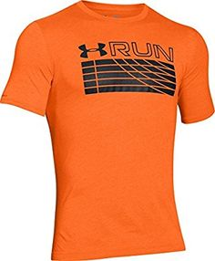 Under Armour Run Graphic - Camiseta de running con manga corta para hombre, diseño con estampado frontal, hombre, color Naranja - Beta Orange, tamaño M