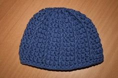 I made this hat for a couple of my friends  with babies and it turned out great!  I also added a little pompom ball at the top.