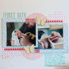 #firstbath #scrapbooking #bathtime #twins