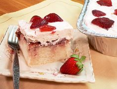 Mama Ruth's Famous Strawberry Cake. It's really a quick and easy way to fix a scrumptious dessert. #GottoBeNC