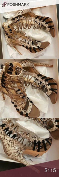 Schutz ermmana caged heels Brand new in box never worn. Schutz ermmana caged heels...these come with tissue paper and dustbag....STUNNING!! SCHUTZ Shoes Ankle Boots & Booties