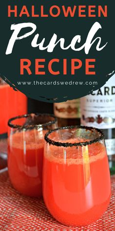 This Easy Halloween Punch Recipe is an adults only beverage that can also be kid friendly by leaving out the Bacardi. All you need is fruit punch, ginger ale, orange juice, and some fun black sprinkles for garnish to make this bloody vampire friendly drink. Celebrate Halloween in style with this festive punch! #halloween #punch #adultbeverage #beverage Halloween Punch, Easy Halloween, Fruit Punch, Bacardi, Punch Recipes, Ginger Ale, Orange Juice, Some Fun, Beverage