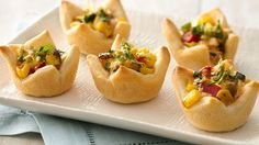 Replicate the best of street food. Fill crescent rounds with a zesty corn, Cojito and cilantro mix.