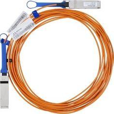 Mellanox Fiber Optic Network Cable - Fiber Optic for Network Device - 49 ft - 1 x QSFP Male Network - 1 x QSFP Male Network