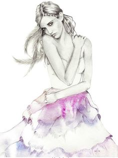 Kelly Smith Freelance Illustrator currently based in Tasmania, Australia. She specialises in both portrait & fashion illustration. Her style is a combination of pencil sketching and watercolor. Kelly Smith, Fashion Art, Trendy Fashion, Fashion Models, Kelly Fashion, Fashion Trends, Liz Clements, Fashion Sketches, Fashion Illustrations
