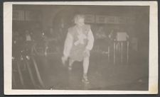 Vintage Photo Pretty Girl in Motion Bowling Alley 775615