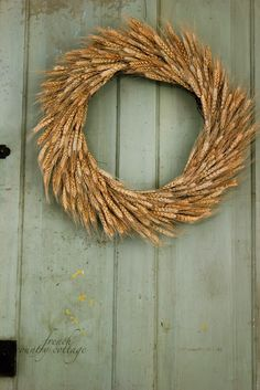 lovely wheat wreath by French Country Cottage... swoon...
