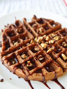 Chocolate Buttermilk Waffles from A Dash of Soul