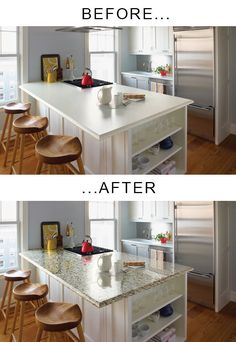 Black faux marble counter top overlay vinyl film x back splash decal. Highly conformable realistic marble effect! Simply peel away the backing, and stick this self-adhesive vinyl to the surface, then trim away any excess with a sharp blade. Butcher Block Countertops, Laminate Countertops, Marble Countertops, Painting Kitchen Countertops, Refinish Countertops, Kitchen Cabinets, Kitchen Counters, White Cabinets, Backsplash