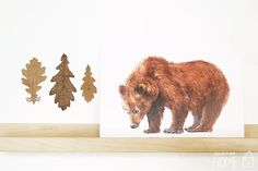Animal Poster A4 (unframed). BEAR Print of Original Watercolor Painting op Etsy, 15,03€