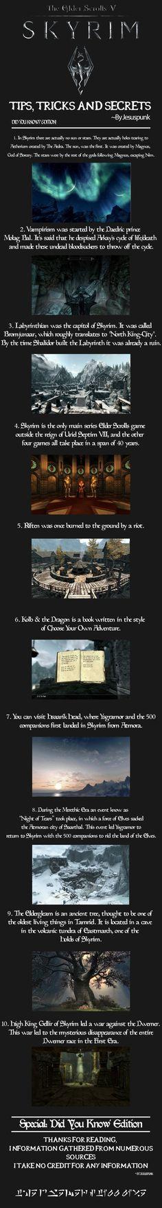 Skyrim - Tips, Tricks and Secrets! {Special Edition}
