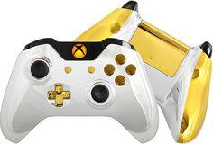 Chrome Xbox One Controller - Custom Silver Chrome Controller #CustomController #Gold #XboxOne #Handmade