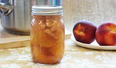 Ginger Honey Pickled Peaches