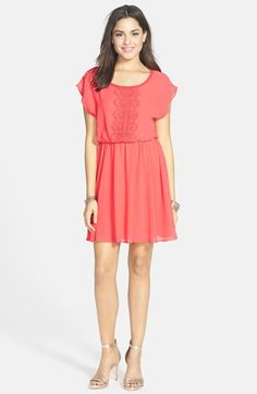 6ff2f4fdbdc0 Lush Lace Trim Skater Dress (Juniors) available at  Nordstrom Shower  Dresses