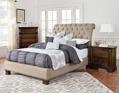 Charleston Queen Upholstered Bed   Standard Furniture   Home Gallery Stores