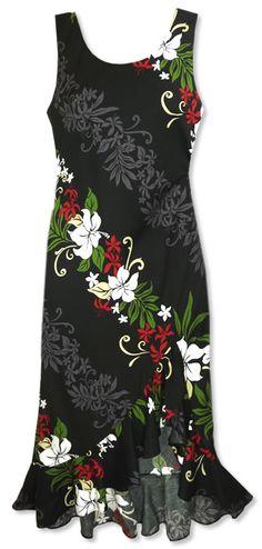 Nani Loa Luau Black Hawaiian Dress