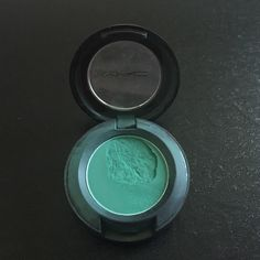 """MAC Eyeshadow """"Newly Minted"""" Authentic MAC Cosmetics eyeshadow in """"Newly Minted"""". Product was used one time after purchased to try. Also a section of the shadow broke after being dropped MAC Cosmetics Makeup Eyeshadow"""