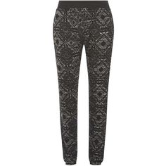 Dorothy Perkins Tall: Grey Marl Aztec Joggers (390 ZAR) ❤ liked on Polyvore featuring activewear, activewear pants, grey, tall activewear and dorothy perkins
