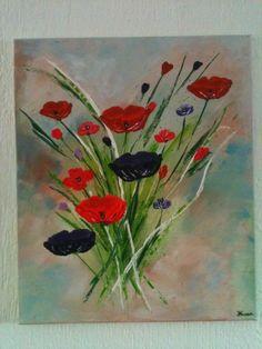 Acryl schilderij boeket