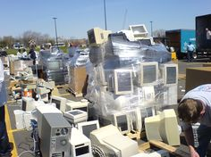 Tips and information on recycling electronics.