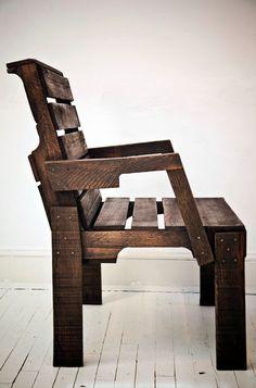 Cadeira de pallet do Capitão! Vou tentar construir essa!!