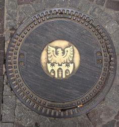 Manhole cover; Merano, Italy.