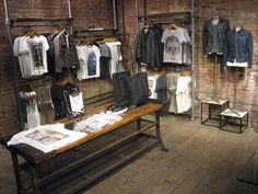 Image result for industrial rustique hanger showroom jeans