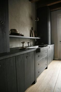 Ebonized wood clad kitchen