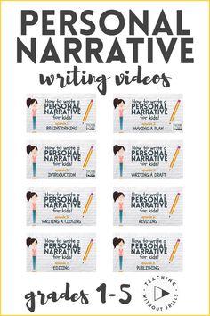 Teaching Narrative Writing, Personal Narrative Writing, Persuasive Writing, Writing Lessons, Writing Rubrics, Paragraph Writing, Opinion Writing, Personal Narratives, Informational Writing