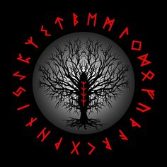 Yggdrasil Tattoo, Norse Tattoo, Viking Tattoos, Norse Runes Meanings, Viking Symbols, Viking Life, Viking Art, Viking Warrior, Norse Pagan