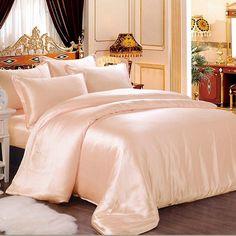 #silk sheet sets #Peach Pink