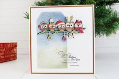 Owl Family Christmas (D1369) – Tattered Lace