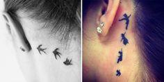 La nuova tendenza in fatto di tatuaggi? Sono quelli dietro l'orecchio! Ecco le idee più belle e sexy in questa gallery!