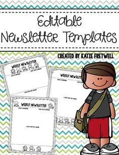 If you're looking for weekly newsletters to send to parents and want the formatting to be eye-catching for parents to read, look no further! This product includes editable newsletter templates for you to use in your classroom!All newsletter templates included are in printer friendly black & white.