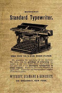 Vintage Typewriter Ad