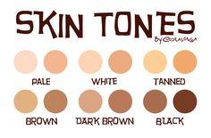 Skin Tones by Costalonga.deviantart.com on @DeviantArt